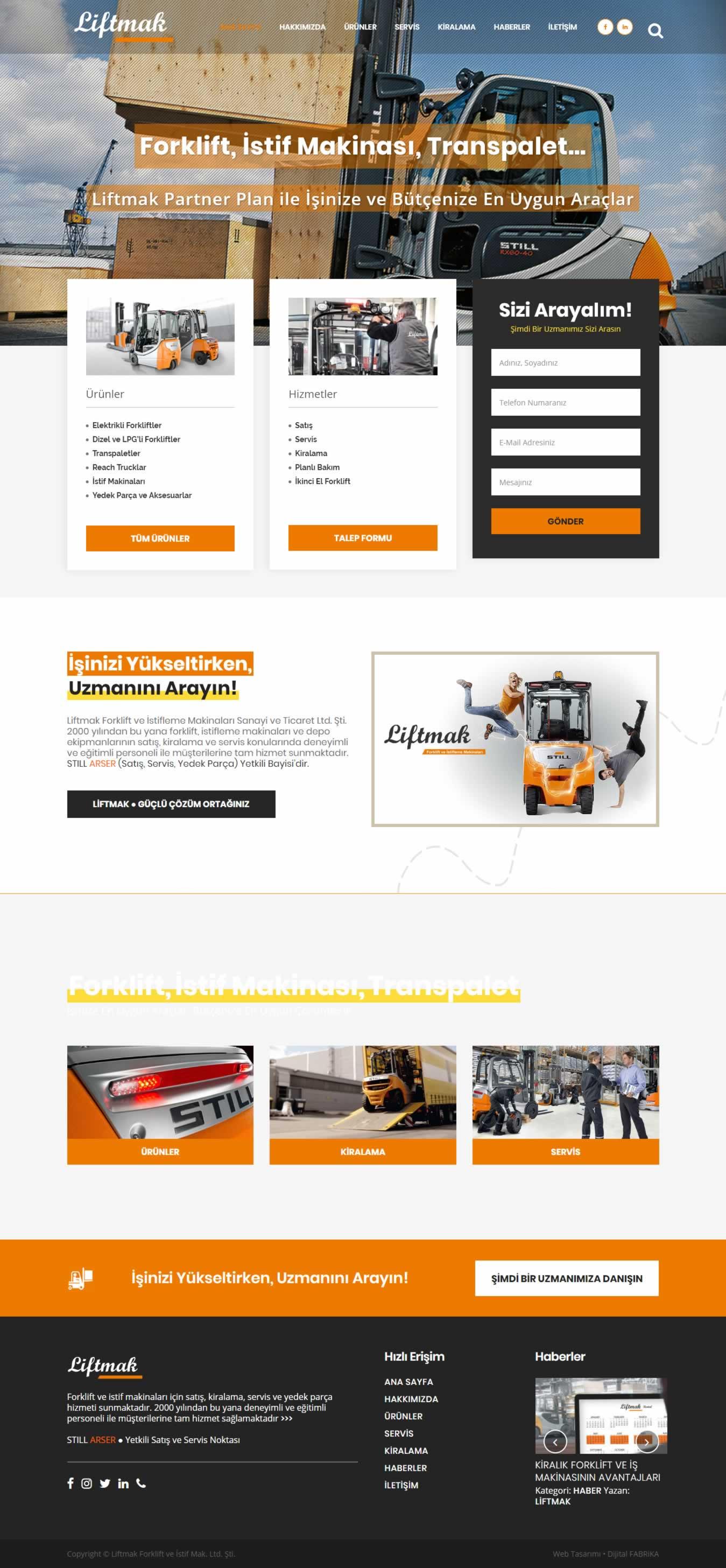 liftmak.com.tr web sitesi