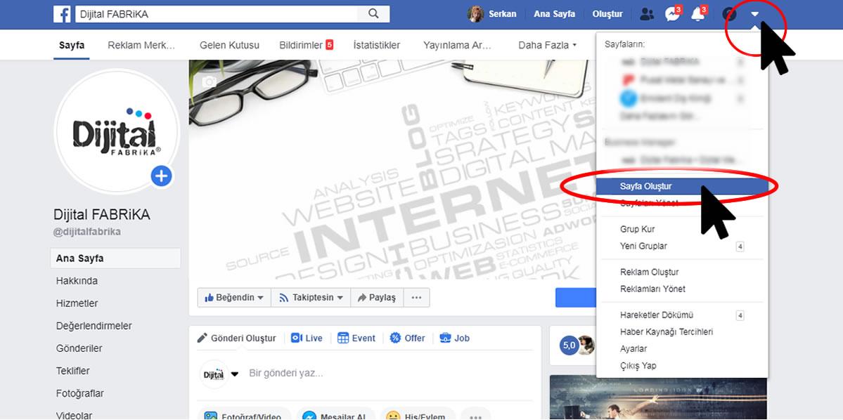 Facebook Kurumsal Sayfa Oluşturma