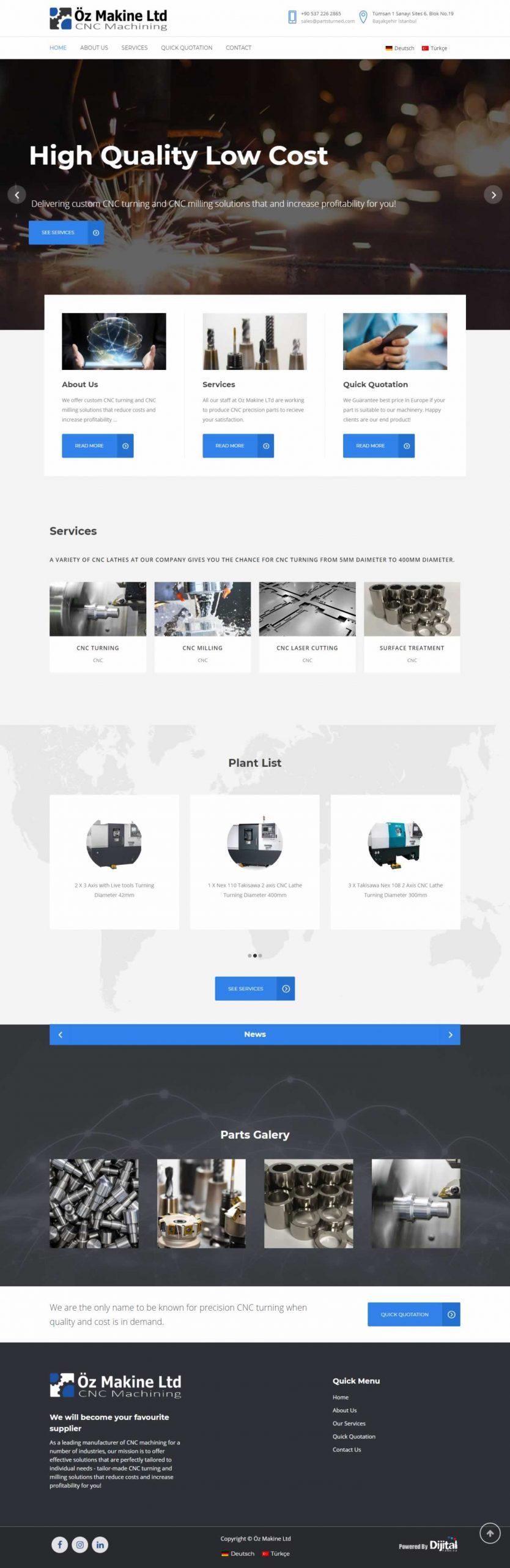 Parts Turned İnternet Reklamı / SEO / Web Tasarımı / Kurumsal Kimlik