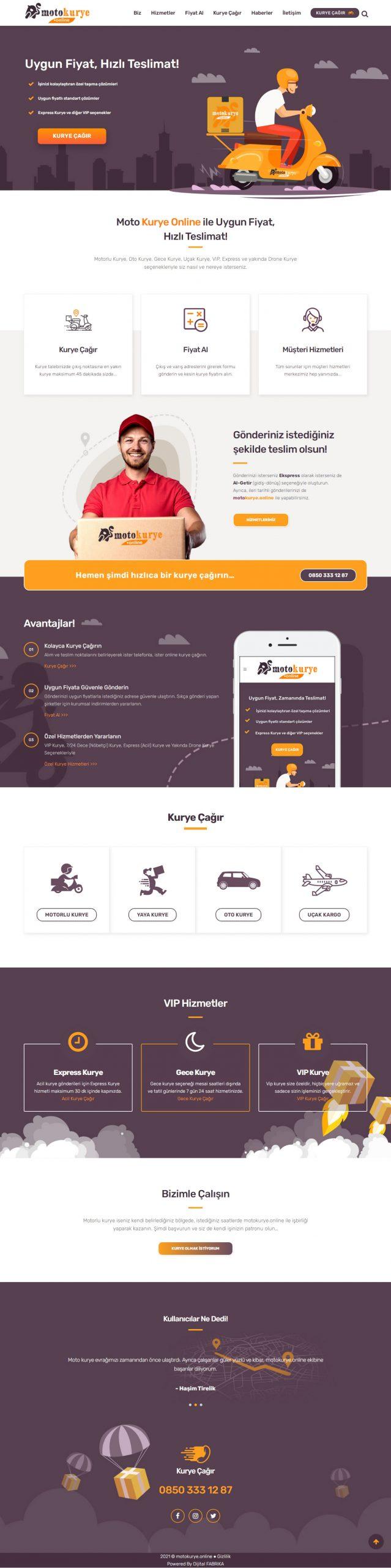 Moto Kurye Online Dijital Fabrika